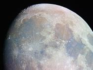 Der nördliche Teil des Mondes, Foto farbverstärkt