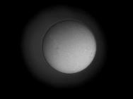 Sonne H-Alpha 01. April 2012, Kontrast verstärkt