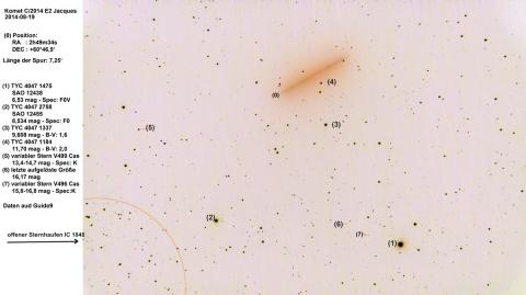 Der Komet C/2014 E2 (Jacques) am 19. August 2014