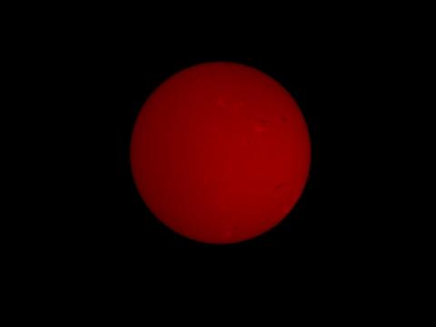 Sonne H-Alpha, 15. Januar 2012, Oberflächenstrukturen werden sichtbar
